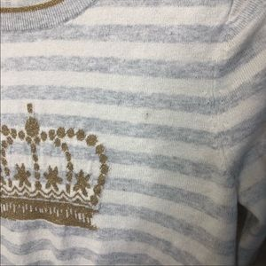 Boden Sweaters - Boden Maisie Crown Embroidered Striped Sweater